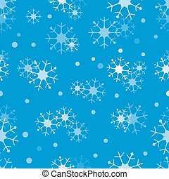 Winter seamless pattern with snowflakes.