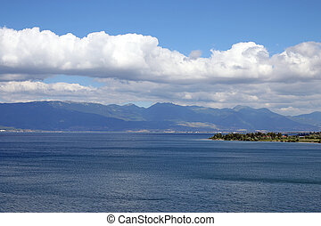 Lake Ohrid Macedonia landscape summer season
