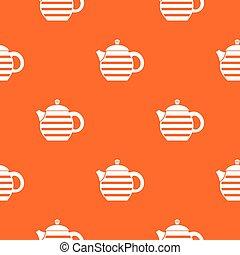 Striped teapot pattern seamless