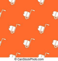 Concrete mixer pattern seamless - Concrete mixer pattern...
