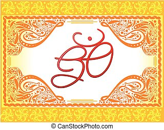 abstract artistic creative om text.eps - abstract artistic...