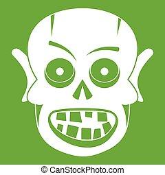 Living dead icon green