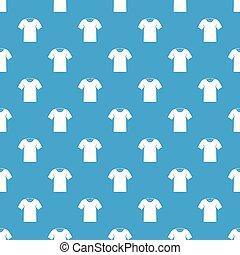 Tshirt pattern seamless blue