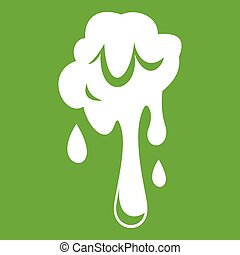 Dripping slime icon green - Dripping slime icon white...