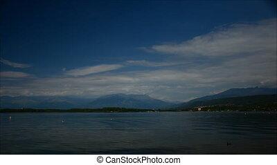 time-lapse on mountain lake