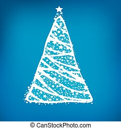 Abstract christmas tree background, Trendy design template