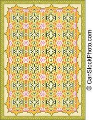 Carpet, Bed Sheet, Rug, Seamless Design Vector Art
