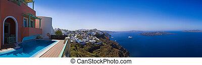 Santorini panorama - Greece - Santorini panorama Firostefani...