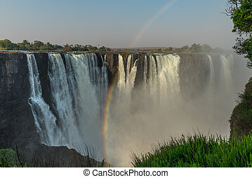 Victoria Falls (Zimbabwe) - The great Victoria Falls near...
