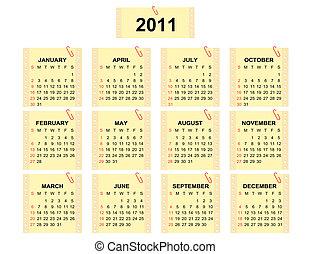 Calendar 2011 - Vector calendar 2011