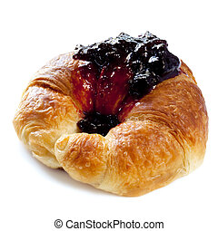 Croissant with Jam - Croissant smothered in sweet black...
