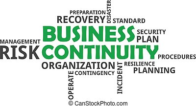 word cloud - business continuity - A word cloud of business...