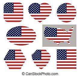 USA national flag icons