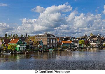 Village Zaanse Schans in Netherlands