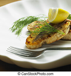 swordfish steak with anchovies