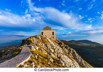 Lovcen Mountains National park at sunset - Montenegro -...