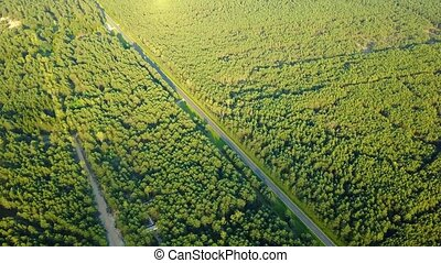 Aerial view of remote rural area - Drone aerial shot of...