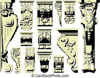 Vector set of vintage design elemen