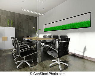modern interior of office - The modern interior of office 3d...