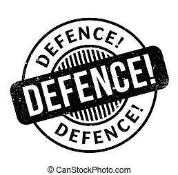 Defence rubber stamp. Grunge design with dust scratches....
