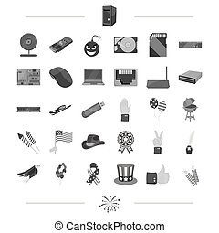 progress, achievements, tourism and other web icon in black style. leisure, business, technology icons in set collection.