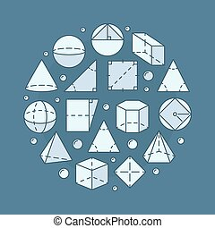 Geometry and mathematics illustration