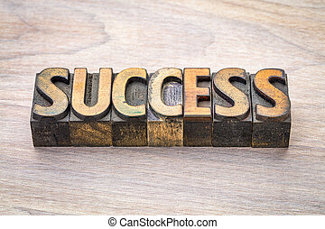success word abstract in woodtype - success word abstract in...