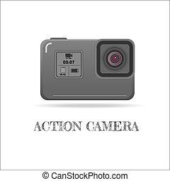 Action extreme camera vector symbol, ESP10