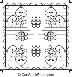 Wrought Iron Fireplace Grill