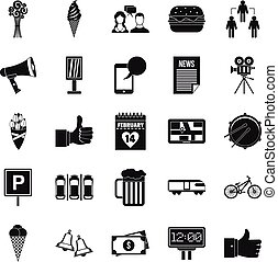 Incident icons set, simple style - Incident icons set....