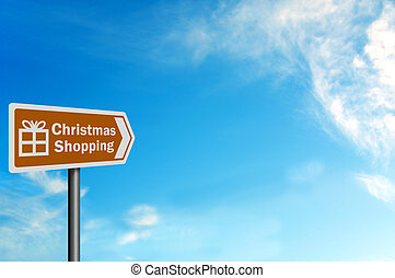 Photo realistic 'Christmas shopping' sign