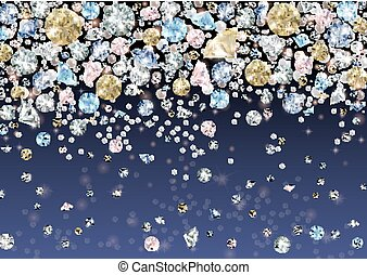 Diamonds and pearls background