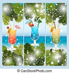 Tropical banners collection