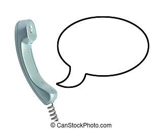 Telephone receiver and cable - Telephone receiver and speech...