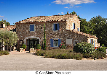 Provence stone house - Old house made off stone bricks in...