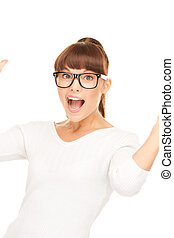 surprise - picture of woman with facial expression of...