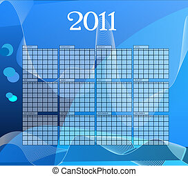 Calender 2011 - Blue vector calender of year 2011