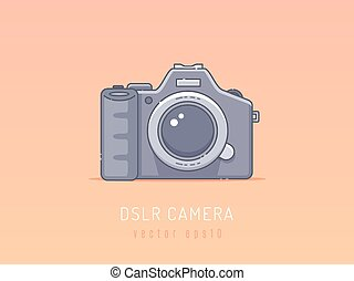 DSLR camera vector illustration
