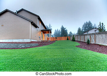 Back yard in the evening light - Nice home near Lakewood, WA...