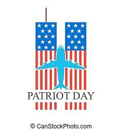 Patriot Day, september 11. Vector illustration. - Patriot...