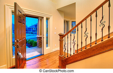 Front door open - Great entrance with an open door. Nice...