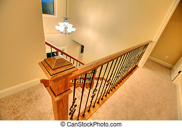Staircase - Open floor plan with a nice staircase. Nice home...