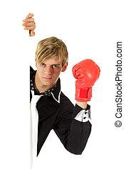 拳擊, 成人, 手套, 年輕