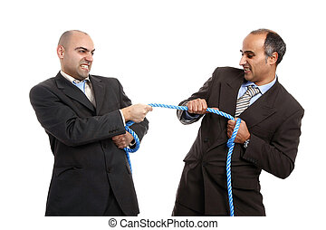 Tug-of-war - business competition concept