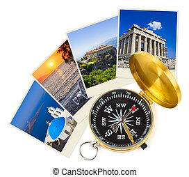 Greece shots and compass