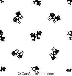 Gloves of goalkeeper pattern seamless black - Gloves of...