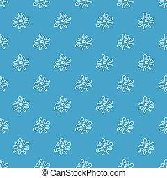 Amoeba pattern seamless blue - Amoeba pattern repeat...