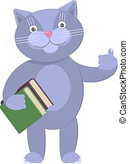 illustration of funny cat