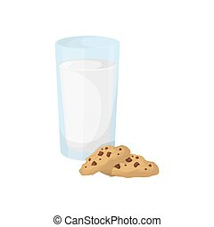 Milk with cookies.