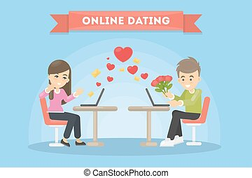 Online dating concept.
